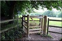 SP4802 : Kissing gate to Matthew Arnold Field by Steve Daniels
