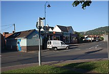 SO7845 : Toilets and retail outlets at the start of Court Road by Bob Embleton