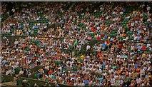 TQ2472 : Watching the tennis at Wimbledon centre court by Steve  Fareham