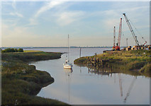 TA0623 : Calm Evening at Barrow Haven by David Wright