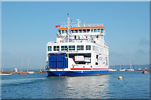 SZ3394 : Isle of Wight ferry leaving Lymington for Yarmouth by Andy F