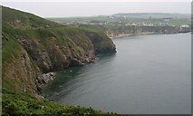 SH2989 : Cliffs on the north side of Porth Swtan/Church Bay by Eric Jones