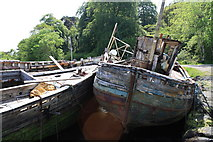 NM5643 : Old Fishing Boats by Colin Kinnear
