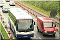 J2965 : Motorway coach near Lisburn by Albert Bridge