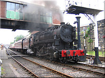 SD8010 : US steam at Bury Bolton Street station by Ian Taylor