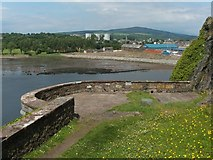 NS3974 : Dumbarton Rock: Bower Battery by Lairich Rig