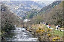 SH5947 : Afon Glaslyn upstream from the Bryn-y-Felin bridge by Phil Champion