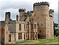 NZ0878 : South frontage of Belsay Castle by Andy F