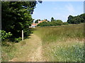 TM3570 : Footpath to Hubbard's Hill by Adrian Cable