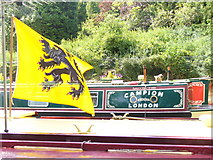 SU9948 : Flag and Narrowboat by Colin Smith