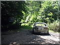 TR1849 : Burnt Out Car at Covert Wood by Oast House Archive