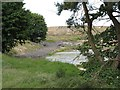 NT1586 : Settling ponds, Fordell Burn by Richard Webb