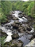 SH7357 : Afon Llugwy from Pont Cyfyng by Pete Wise