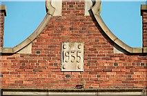 J3474 : Date stone, Belfast by Albert Bridge