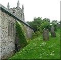 SX1497 : Buttress, St Genesius's Church, St Gennys by Humphrey Bolton