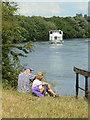 SK6339 : Enjoying the River by Alan Murray-Rust