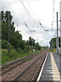 TF6111 : Watlington Station - view south from platform 2 by Evelyn Simak