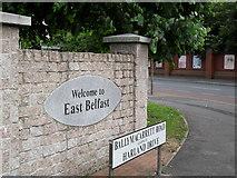"""J3574 : """"Welcome to East Belfast"""" by Dean Molyneaux"""