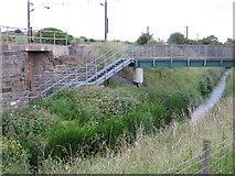 NZ3024 : Public Right of Way footbridge by peter robinson