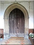 TM0890 : St Martin's Church - C15 south door by Evelyn Simak