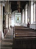 TM0890 : St Martin's Church - south aisle by Evelyn Simak