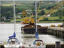 J1418 : A floating crane in Warrenpoint harbour by HENRY CLARK