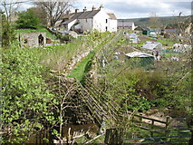 NY9038 : Footbridge over Middlehope Burn, Westgate by Mike Quinn