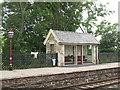 NY7606 : Kirkby Stephen station: down side shelter by Stephen Craven