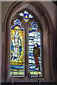 TM0287 : St Andrew's church - south aisle memorial window by Evelyn Simak