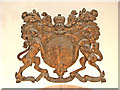 TM0287 : St Andrew's church - Stuart royal arms by Evelyn Simak