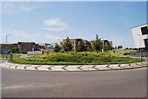 TG1807 : Roundabout outside Norfolk & Norwich University Hospital by N Chadwick
