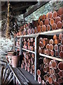 SW9946 : Interior of the potting shed in the Melon Garden by Rod Allday