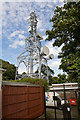 SU4712 : BT Thornhill microwave radio tower by Peter Facey
