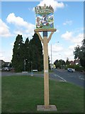TQ8564 : Newington Village Sign by David Anstiss