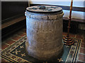 TR1557 : St Martin's church, Canterbury: font by Stephen Craven