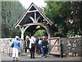 TR1557 : St Martin's church, Canterbury: lych gate by Stephen Craven