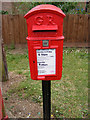 TM3569 : 5 Mill Road George V Postbox by Geographer