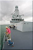 SU6200 : View from foredeck of HMS Daring by Peter Facey
