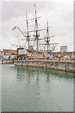 SU6200 : HMS Victory seen across Basin Number 1 by Peter Facey