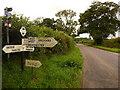 ST8415 : Iwerne Minster: Peggs Lane finger-post by Chris Downer
