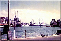 SY6878 : Weymouth Harbour 1956 by Peter Fox