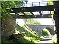 NY7308 : Ruined bridge over old railway cutting by Stephen Craven