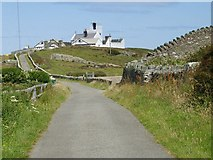 SH4793 : The final furlong to the Point Lynas lighthouse by Eric Jones