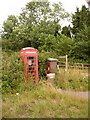 SU9443 : Eashing: postbox № GU7 7 and phone by Chris Downer