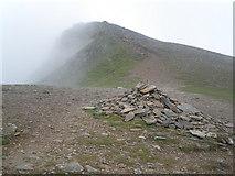 SH6359 : Summit ridge, Y Garn by Roger Cornfoot