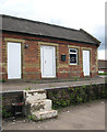 TM1697 : Ashwellthorpe railway station - the station platform by Evelyn Simak