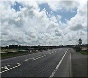 SD3641 : Looking south over Shard Bridge by James Denham