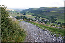 SD9772 : Top Mere Road with Kettlewell beyond by Ian Greig