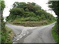 SM9202 : Lane Junction, Pwllcrochan by Peter Whatley