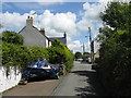 SM9909 : Narrow Lane In Llangwm by Peter Whatley